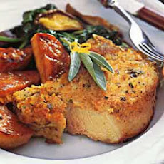 Baked Pork Chops with Parmesan-Sage Crust