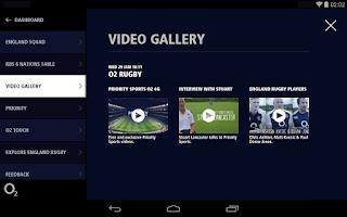 Screenshot of O2 Matchday