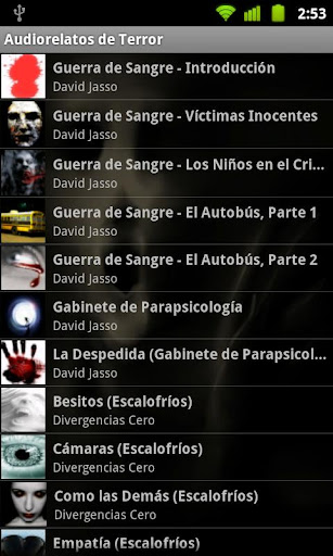 audiorelatos-de-terror for android screenshot