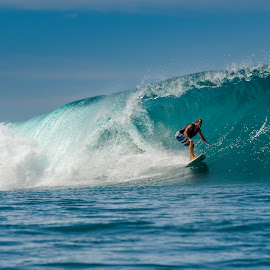 Barrel coming. by Alexandre Ribeiro Dos Santos - Sports & Fitness Surfing ( sumba, blue, indonesia, sea, beach, nihiwatu, barrel, surf )
