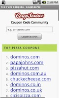 Screenshot of Pizza Coupons, Fast Food Deals