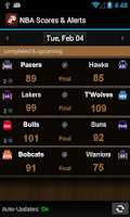 Screenshot of Sports Alerts - NBA edition