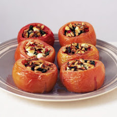 Roasted Pepper & Goat's Cheese Stuffed Tomatoes