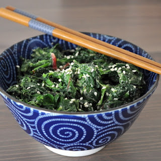 Horenso No Goma Miso Ae (Spinach with Sesame Miso Sauce)
