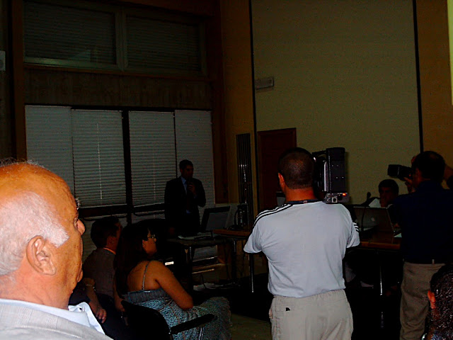 The talk for my master's degree. July 27, 2006