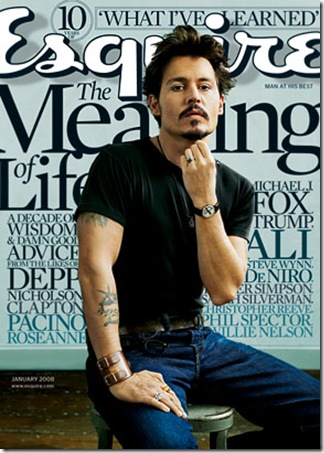 Johnny Depp's Shirtless 'GQ' Cover