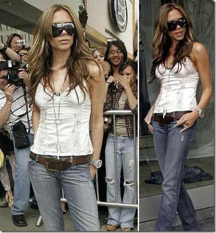 Baggy Jeans For Girls - Victoria Beckham Rock Republic Pink Crystal Crown Jeans