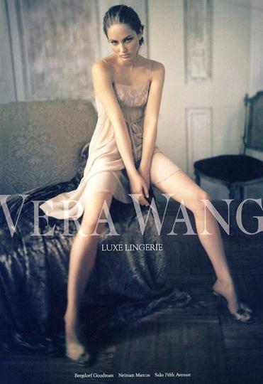 ruslana korshunova modelling vera wang luxe lingerie picture