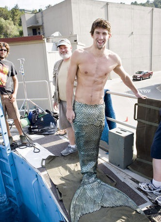picture of michael Phelps in mermaid costume