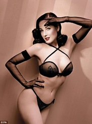 Burlesque queen Dita Von Teese wonderbra lingerie collection ad picture