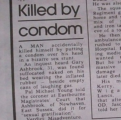 Man Killed By Condom News report