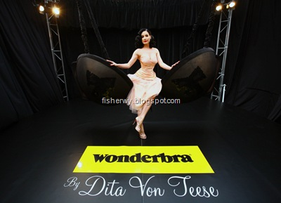 Dita Von Teese Wonderbra line photo