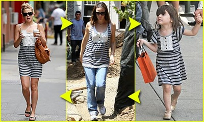 Picture, Suri Cruise, Jennifer Garner, Kate Hudson in the Same Juicy Couture Lace Front Dress