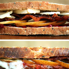 Bacon, Cheddar and Pear Panini