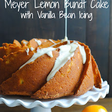 Meyer Lemon Bundt Cake with Vanilla Bean Icing