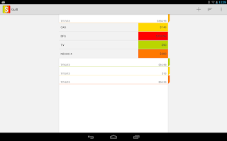 Screenshot of Guilt - Expense Manager