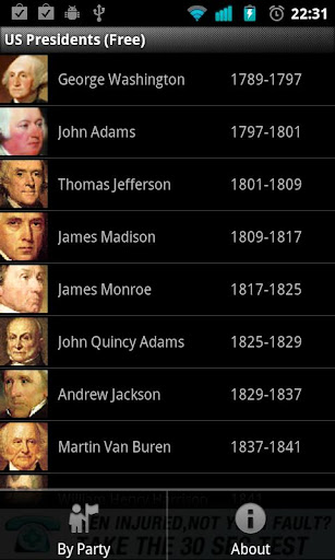 US Presidents for Phone