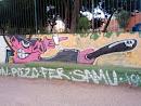 Graffiti cerdo policía