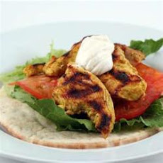 Low Fat Curried Chicken Salad Wrap