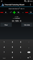 Screenshot of Trinomial Factoring Wizard