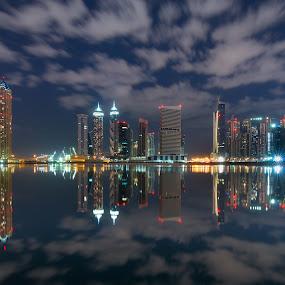 Down Town Dubai by Walid Ahmad - Buildings & Architecture Office Buildings & Hotels ( dubai, night, nikon, down town, photography )