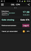 Screenshot of Oslo Airport