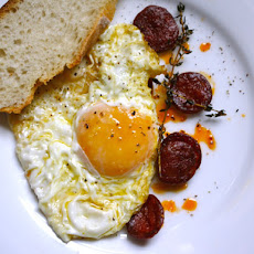 José Andrés's Fried Egg with Chorizo