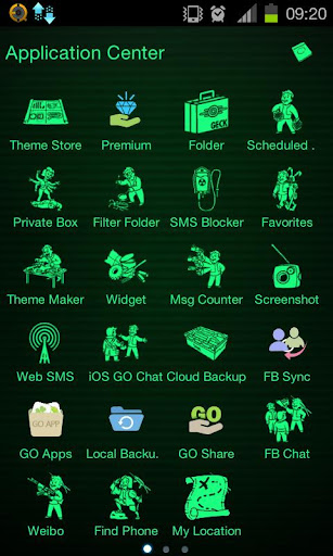 Fallout Theme addon Go SMS Pro
