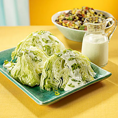 Iceberg Lettuce Wedges with Creamy Garlic Dressing