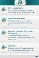 Screenshot of Paroles de comptines, chansons