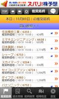 Screenshot of 当るズバリ株予想【実戦版】買い&売り銘柄を毎日予想します