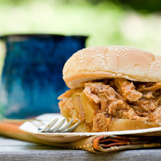 Hawaiian Barbecue Pulled Chicken Sandwiches