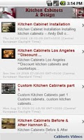 Screenshot of Kitchen Cabinets & Design