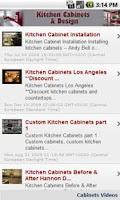 Screenshot of Kitchen Cabinets & Design