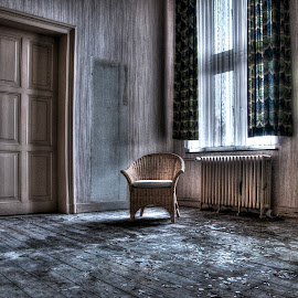 the chair by Nicky Staskowiak - Artistic Objects Furniture ( monastary, abandoned, decay, , Chair, Chairs, Sitting )