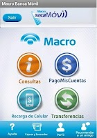 Screenshot of Macro Banca Móvil