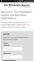 Screenshot of Philadelphia Inquirer Replica