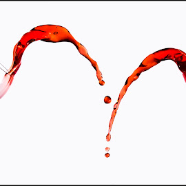Double splash by Chris Duffy - Abstract Water Drops & Splashes ( glass art, splash, splash photography, wine glass, glass, splash water photography )