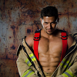 The Firefighter by Steve Forbes - People Portraits of Men