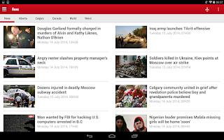 Screenshot of Calgary SUN+