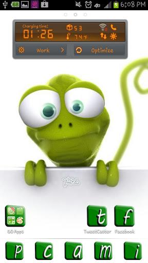 Green Lizard Go Launcher Theme