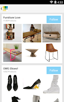 Screenshot of Wanelo Shopping