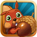 Get the Nut - a cute yet challenging puzzle game to help Squirrely get his acorns back