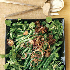 Green Bean, Watercress, and Crispy Shallot Salad