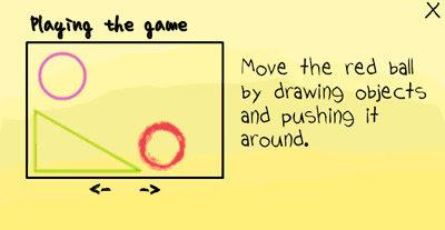 [小遊戲]魔法筆(MagicPen)透過畫出來的東西去移動紅色的球