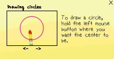 [小遊戲]魔法筆(MagicPen)按住滑鼠左鍵不動就可以產生圓形