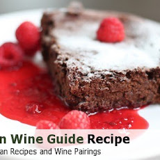Cocoa and Black Bean Brownies with Raspberry Sauce