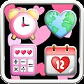 Pinky Heart Icon APK for Bluestacks