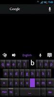 Screenshot of GO Keyboard Black Purple Theme