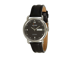 Jack Spade - Stillwell Black Face with Leather Rigid Heavystitch Strap (Black) - Jewelry